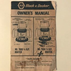 Black & Decker Router Owner's Manual